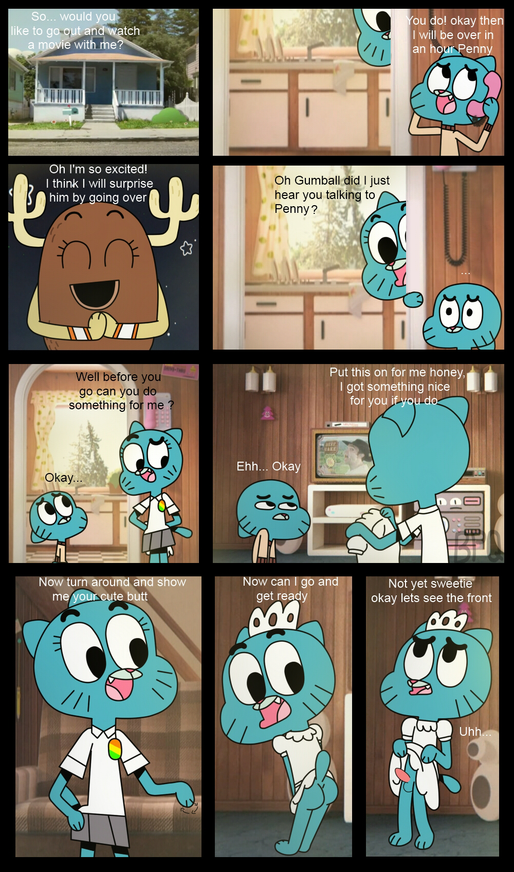 gumball amazing without penny shell the of world My first girlfriend is a gal ranko