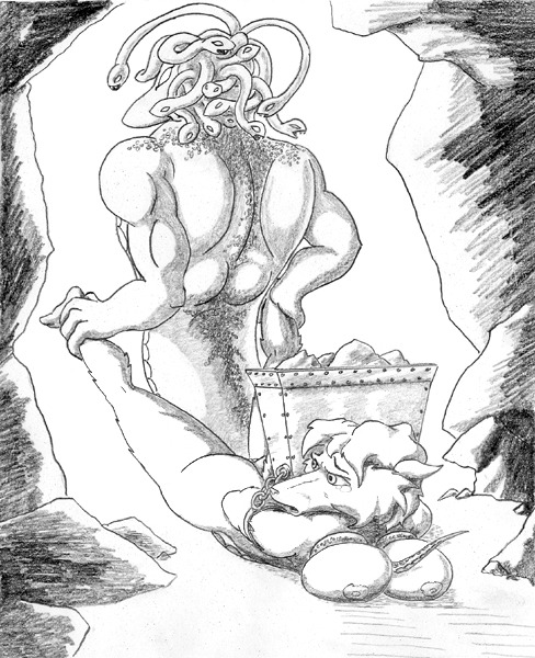 have does medusa for pubes snakes Shrinking woman out of clothes
