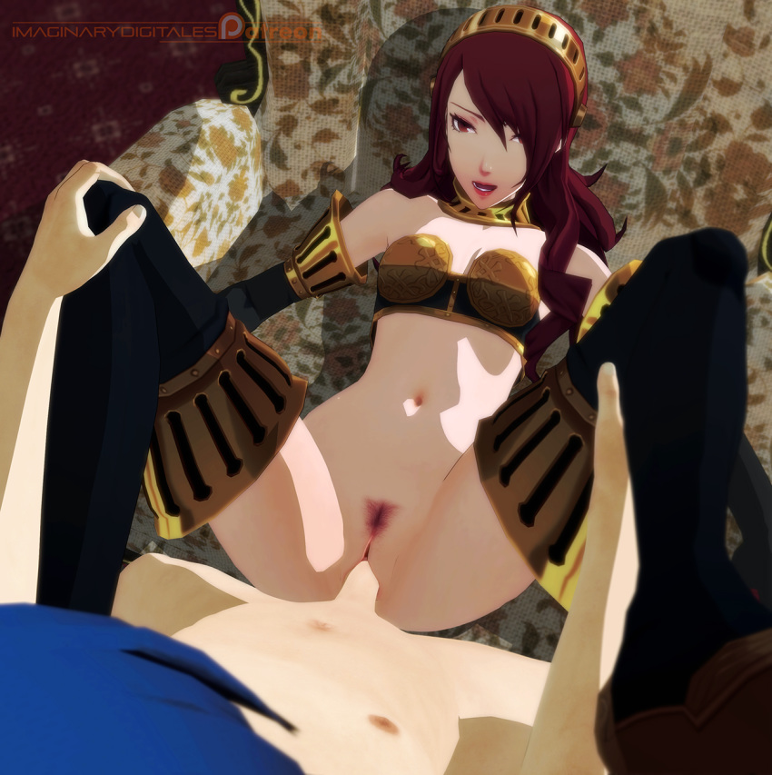 high cut persona 3 armor King of fighters mai gif