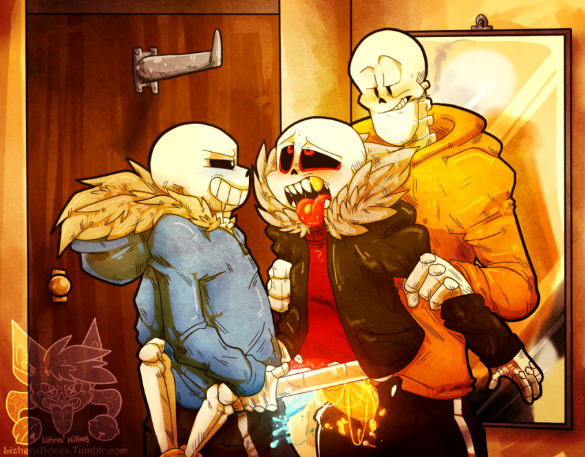 x sans underfell papyrus underswap How to draw panty and stocking